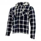 Lumber Hoodie, schwarz-grau