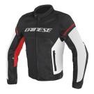 Dainese veste d'éte Air Frame D1 Tex, noir-blanche-rouge