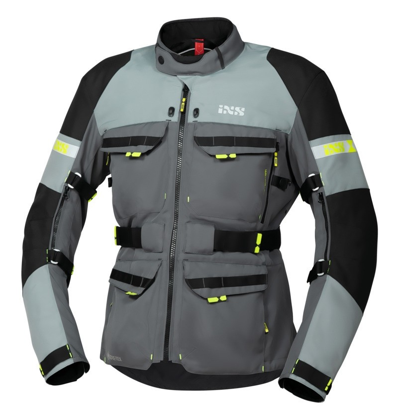 IXS All-Seasonjacke Tour Adventure GTX, dunkelgrau-grau-schwarz