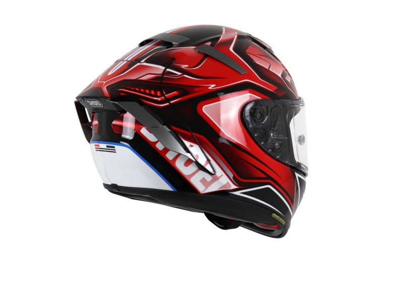 SHOEI X-Spirit III,Aerodyne TC1, schwarz-rot-weiss (collection 2021)