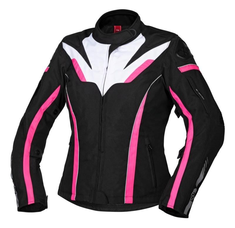 IXS Damenjacke, Sport RS-1000 ST, schwarz-weiss-pink