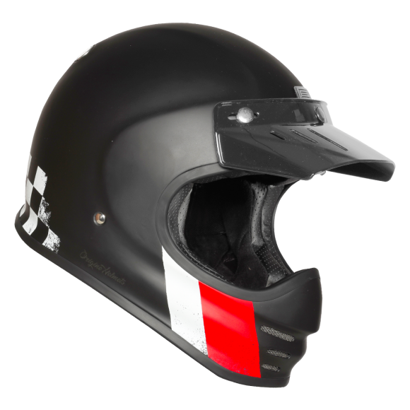 ORIGINE Retro-Integralhelm Virgo Danny, schwarz matt