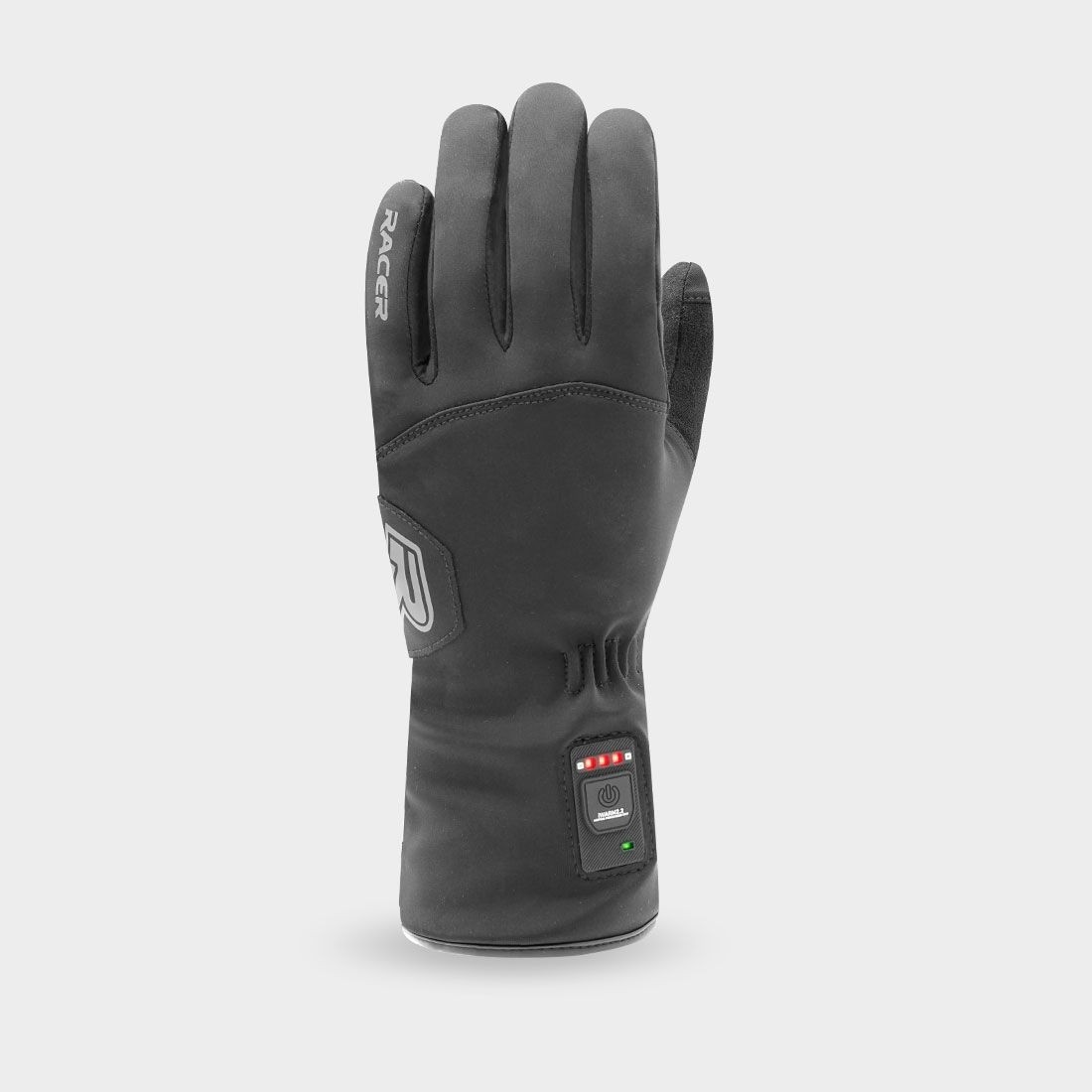 Racer  Handschuh  , geheizt, schwarz