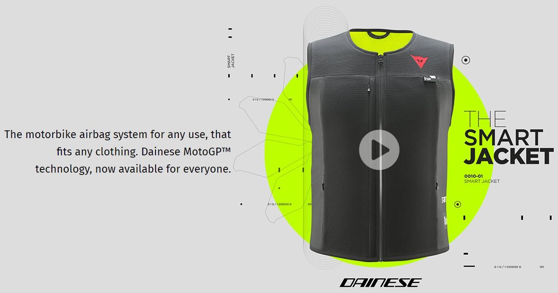 Dainese Airbag -Gilet - D-Air Smart Jacket, schwarz-fluo gelb
