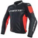 Dainese Lederjacke Racing 3, schwarz-rot