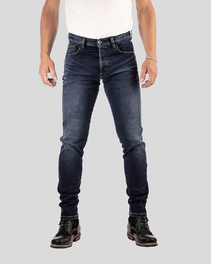 Rokkertech Slim, Dark Blue, jeans pour motard
