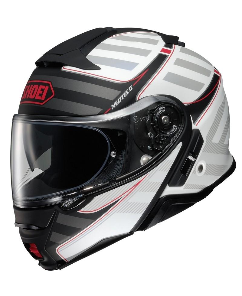 SHOEI casque modulable Neotec II, Splicer, blanc-argent-gris-rouge
