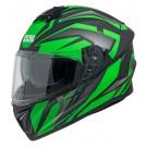 Integralhelm iXS216 2.1 schwarz matt-grün-weiss