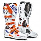 Sidi Crossfire 2 SRS bottes Supermotard, blanche-orange-bleu