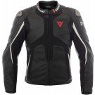 Dainese Airbag- veste en cuir D-Air Misano, noir-blanche