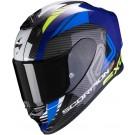 Scorpion EXO-R1 Air, Halley, bleu - jaune fluo